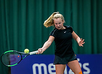 Wateringen, The Netherlands, December 1,  2019, De Rhijenhof , NOJK 12 and16 years, final girls 12 years:  Britt du Pree (NED)<br /> Photo: www.tennisimages.com/Henk Koster