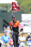 Danny Willett (ENG) on the 13th green during Thursday's Round 1 of the 118th U.S. Open Championship 2018, held at Shinnecock Hills Club, Southampton, New Jersey, USA. 14th June 2018.<br /> Picture: Eoin Clarke | Golffile<br /> <br /> <br /> All photos usage must carry mandatory copyright credit (&copy; Golffile | Eoin Clarke)