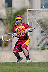 Los Angeles, CA 02/20/10 - Alex Rice (USC # 20) in action during the USC-Loyola Marymount University MCLA/SLC divisional game at Leavey Field (LMU).