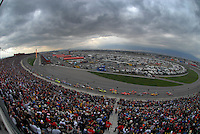 Feb 25, 2007; Fontana, CA, USA; The field of Nascar Nextel Cup Series drivers take the green flag during the Auto Club 500 at California Speedway. Mandatory Credit: Mark J. Rebilas