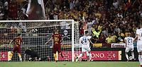 Calcio, Serie A: Roma - Atalanta, Stadio Olimpico, 27 agosto, 2018.<br /> Atalanta Timothy Castagne (r) is going to score during the Italian Serie A football match between Roma and Atalanta at Roma's Stadio Olimpico, August 27, 2018.<br /> UPDATE IMAGES PRESS/Isabella Bonotto