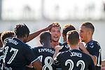 09.07.2019: St Joseph's v Rangers: Borna Barisic takes the acclaim for his goal