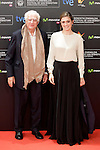 """French director Bertrand Tavernier and actress Julie Gayet in the photocall of the """"Quai D´orsay"""" film premiere during the 61 San Sebastian Film Festival, in San Sebastian, Spain. September 24, 2013. (ALTERPHOTOS/Victor Blanco)"""
