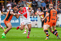Picture by Alex Whitehead/SWpix.com - 12/05/2018 - Rugby League - Ladbrokes Challenge Cup - Castleford Tigers v St Helens - Mend-A-Hose Jungle, Castleford, England - St Helens' Zeb Taia loses the ball.