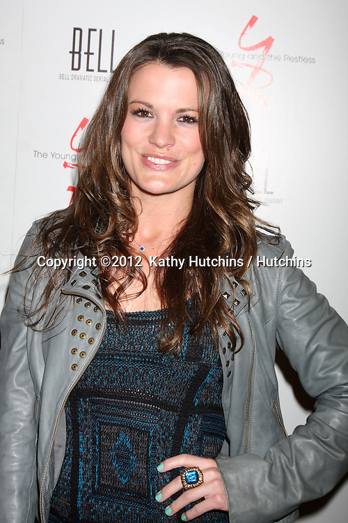 LOS ANGELES - MAR 16:  Melissa Claire Egan arrives at the Young & Restless 39th Anniversary Party hosted by the Bell Family at the Palihouse on March 16, 2012 in West Hollywood, CA