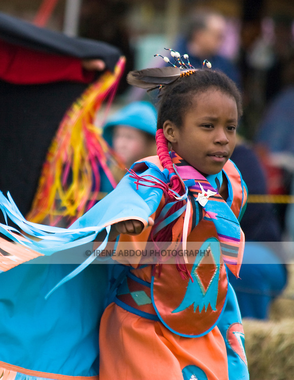 A fancy dancer  dances at the Healing Horse Spirit PowWow in Mt. Airy, Maryland.
