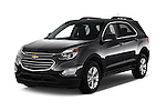 2017 Chevrolet Equinox LT 5 Door Suv Angular Front stock photos of front three quarter view