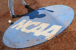 4 JUNE 2016:  A Millersville University batter stands in the on deck circle during their Division II Men's Baseball Championship game against Nova Southeastern University at the USA Baseball National Training Complex in Cary, NC.  Nova Southeastern University defeated Millersville University 8-6 to win the national title.  Grant Halverson/NCAA Photos