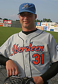 August 16, 2003:  Pitcher Tony Neal of the Aberdeen Ironbirds, Class-A affiliate of the Baltimore Orioles, during a game at Falcon Park in Auburn, NY.  Photo by:  Mike Janes/Four Seam Images