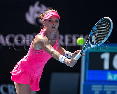 18.01.2016. Melbourne Park, Melbourne, Australia. Australian Open Tennis championships. Agnieszka Radwanska (pol) ladies singles