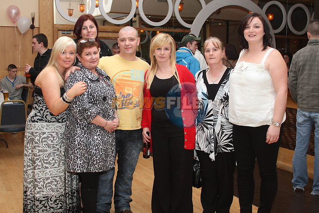 Parents Lynette Williams and Gareth Crosbie with organisers Tammy Brady, Lisa McGuinness, Carol Kierans, Louise McDonnell and Bernadette McGuinness at the Benefit Night for Jasmine Williams in the Thatch...(Photo credit should read Jenny Matthews www.newsfile.ie)....This Picture has been sent you under the condtions enclosed by:.Newsfile Ltd..The Studio,.Millmount Abbey,.Drogheda,.Co Meath..Ireland..Tel: +353(0)41-9871240.Fax: +353(0)41-9871260.GSM: +353(0)86-2500958.email: pictures@newsfile.ie.www.newsfile.ie.