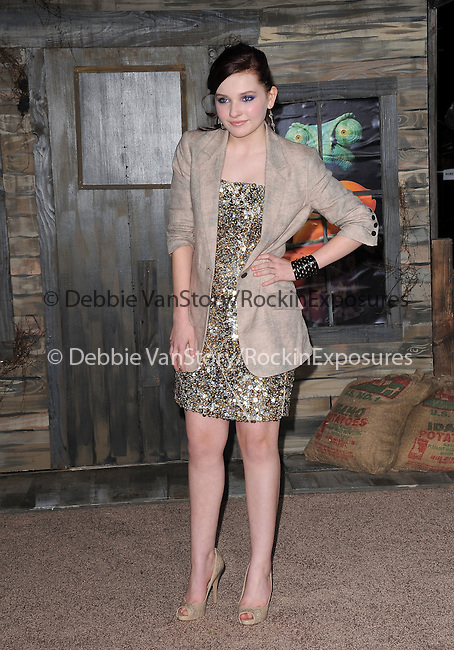 Abigail Breslin attends The Paramount Pictures' L.A. Premiere of RANGO held at The Regency Village Theatre in Westwood, California on February 14,2011                                                                               © 2010 DVS / Hollywood Press Agency