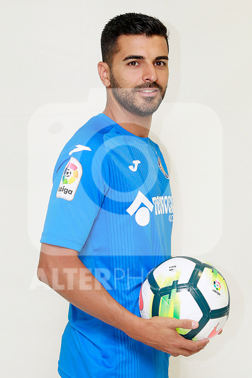 Getafe CF's Angel Rodriguez during the session of the official photos for the 2017/2018 season. September 19,2017. (ALTERPHOTOS/Acero)