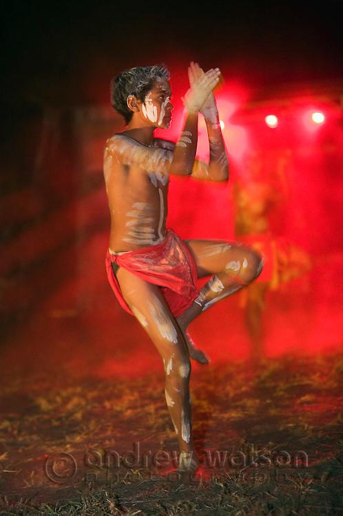 Indigenous dancer performing at the Laura Aboriginal Dance Festival.  Laura, Queensland, Australia