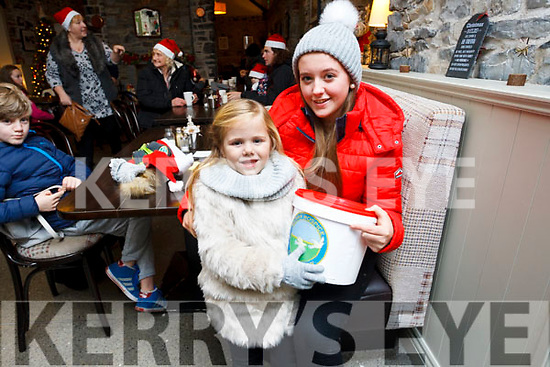 Coast Cafe, Ballybunion, Lighting of Kerry Hospice Tree buy a bauble for a loved one. Molly Kate Mallon and her sister Kerry Ann Williams Kissane help launch the Hospice Appeal.