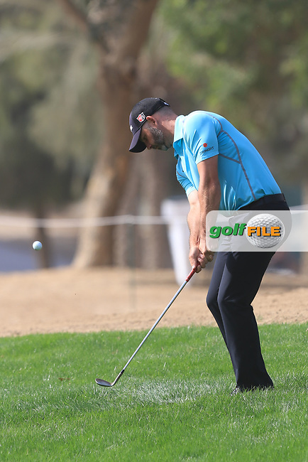 Paul Waring (ENG) on the 2nd during Round 3 of the Omega Dubai Desert Classic, Emirates Golf Club, Dubai,  United Arab Emirates. 26/01/2019<br /> Picture: Golffile | Thos Caffrey<br /> <br /> <br /> All photo usage must carry mandatory copyright credit (&copy; Golffile | Thos Caffrey)