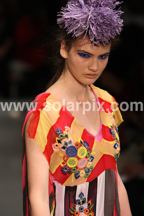 **ALL ROUND PICTURES FROM SOLARPIX.COM**                                             **WORLDWIDE SYNDICATION RIGHTS**                                                                                  Caption:   London Fashion Week.                                                                            This pic:    Louise Gray runway                                                                                          JOB REF:    12120    MLW       DATE:    18.09.10                                                        **MUST CREDIT SOLARPIX.COM OR DOUBLE FEE WILL BE CHARGED**                                                                      **MUST AGREE FEE BEFORE ONLINE USAGE**                               **CALL US ON: +34 952 811 768 or LOW RATE FROM UK 0844 617 7637**