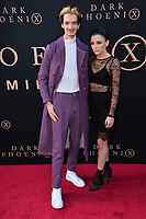 "LOS ANGELES, USA. June 05, 2019: Kodi Smit-McPhee & Rebecca Phillipou at the premiere for ""X-Men: Dark Phoenix"" at Paramount Theatre.<br /> Picture: Paul Smith/Featureflash"