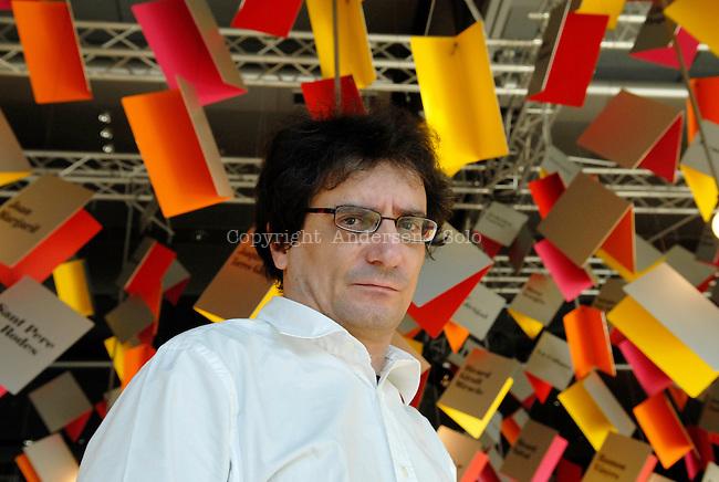 Catalan author Albert Sanchez Pinol attending Frankfurt book fair, 2007.