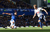 9th September 2017, Goodison Park, Liverpool, England; EPL Premier League Football, Everton versus Tottenham; Ashley Williams of Everton stretches to make a last ditch interception as Harry Kane of Tottenham runs at goal