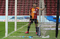 15th March 2020, Istanbul, Turkey;  Radamel Falcao of Galatasaray in the net during the Turkish Super league football match between Galatasaray and Besiktas at Turk Telkom Stadium in Istanbul , Turkey on March 15 , 2020.