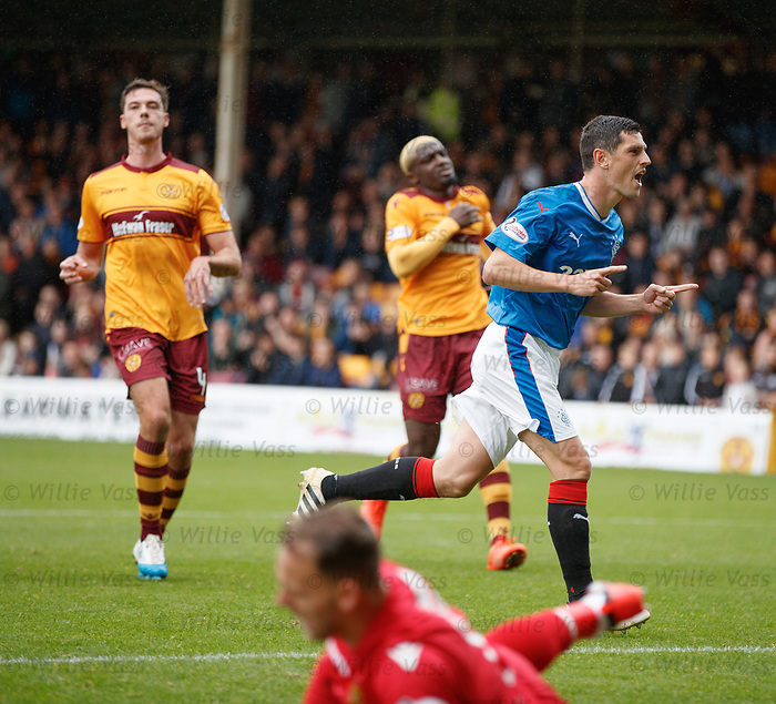 Graham Dorrans celebrates his penalty