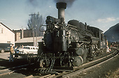 3/4 fireman's-side view of D&amp;RGW #473 at Durango.<br /> D&amp;RGW  Durango, CO