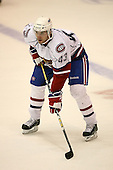 March 15, 2009:  Defenseman Doug Janik (43) of the Hamilton Bulldgos, AHL affiliate of Montreal Canadians, during the second period of a regular season game at the Blue Cross Arena in Rochester, NY.  Hamilton defeated Rochester 4-3 in a shoot out.  Photo Copyright Mike Janes Photography 2009