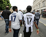 A Juventus and Real Madrid fan with Cardiff 17 shirts during the Champions League Final match at the National Stadium, Cardiff. Picture date: June 3rd, 2017. Pic credit should read: David Klein/Sportimage