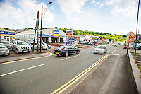 Tuesday  17  June  2014<br /> <br /> Pictured:View of the Pensarn Area of Carmarthen <br /> Re: General Views of the Kwik-Fit Branch on Carmarthen, West Wales