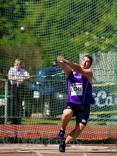 23 MAY 2010 - LOUGHBOROUGH, GBR - Alex Smith (Loughborough University) - Mens Hammer - Loughborough International Athletics .(PHOTO (C) NIGEL FARROW)