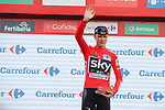 Christopher Froome (GBR) Team Sky wins Stage 9 and retains the race leader's Red Jersey of the 2017 La Vuelta, running 174km from Orihuela Ciudad del Poeta Miguel Hernandez to Cumbre del Sol, El Poble Nou de Benitatxell, Spain. 27th August 2017.<br /> Picture: Unipublic/&copy;photogomezsport | Cyclefile<br /> <br /> <br /> All photos usage must carry mandatory copyright credit (&copy; Cyclefile | Unipublic/&copy;photogomezsport)