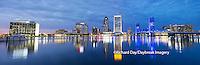63412-01006 Jacksonville skyline at dusk, Jacksonville, FL