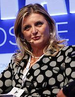 Lisa Ferrarini Vice presidente confindustria  durante il XXIX convegno di Capri per Napoli   dei  Giovani Industriali a Citta della Scienza , 25 Ottobre 2014