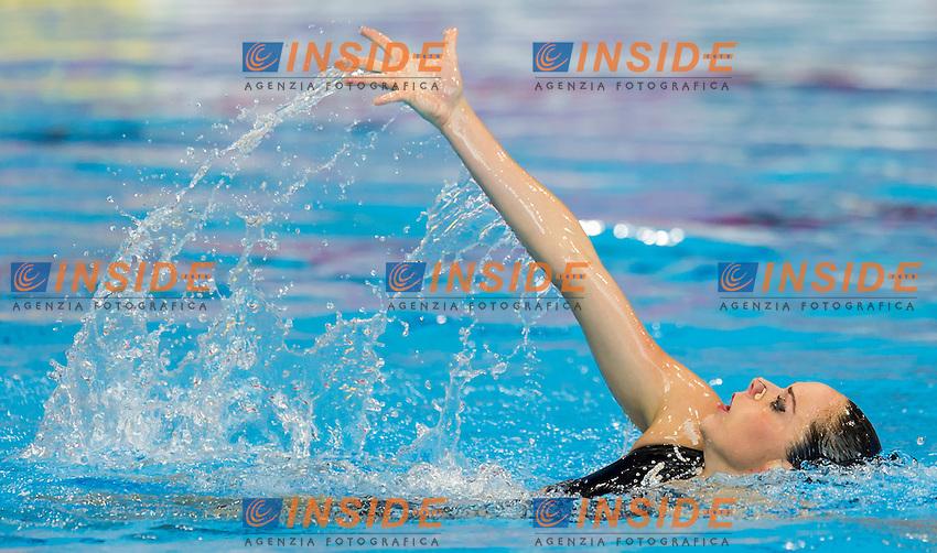 SALVADOR Cristina ESP<br /> London, Queen Elizabeth II Olympic Park Pool <br /> LEN 2016 European Aquatics Elite Championships <br /> Synchro<br /> Solo Technical final <br /> Day 04 12-05-2016<br /> Photo Giorgio Perottino/Deepbluemedia/Insidefoto