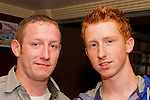 Ciaran Brannigan and James Near enjoy a night out in Barroco..Picture: Shane Maguire / www.newsfile.ie.