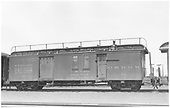 #61 baggage &amp; mail car.  Side view.<br /> D&amp;RGW