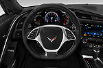 Car pictures of steering wheel view of a 2018 Chevrolet Corvette Stingray 1LT 2 Door Coupe