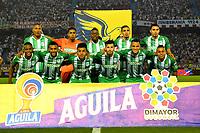 BARRANQUILLA-COLOMBIA, 20-11-2019: Jugadores de Atlético Nacional, posan para una foto, antes de partido entre Atlético Junior y Atlético Nacional, de la fecha 4 de los cuadrangulares semifinales por la Liga Águila II 2019, jugado en el estadio Metropolitano Roberto Meléndez de la ciudad de Barranquilla. / Players of Atletico Nacional, pose for a photo, prior a match between Atletico Junior and Atletico Nacional of the 4th date of the quarter semifinals for the Aguila Leguaje I 2019 played at the Metropolitano Roberto Melendez Stadium in Barranquilla city. / Photo: VizzorImage / Alfonso Cervantes / Cont.