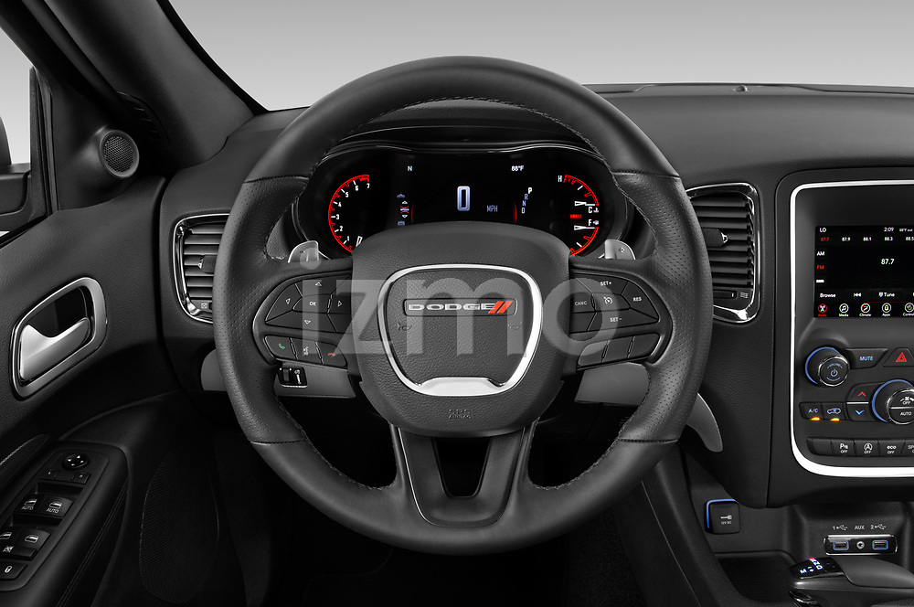 Car pictures of steering wheel view of a 2019 Dodge Durango GT 5 Door SUV