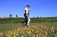 Bubba Watson and Bryson DeChambeau (USA) walk off the 8th tee during Sunday's Final Round of the 2018 AT&amp;T Pebble Beach Pro-Am, held on Pebble Beach Golf Course, Monterey,  California, USA. 11th February 2018.<br /> Picture: Eoin Clarke | Golffile<br /> <br /> <br /> All photos usage must carry mandatory copyright credit (&copy; Golffile | Eoin Clarke)