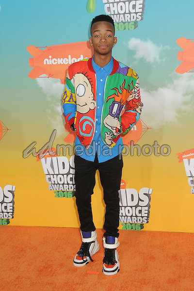 12 March 2016 - Inglewood, California - Coy Stewart. 2016 Nickelodeon Kids' Choice Awards held at The Forum. Photo Credit: Byron Purvis/AdMedia