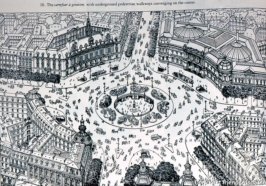 Paris: Henard Plan for traffic circle. Reference only.