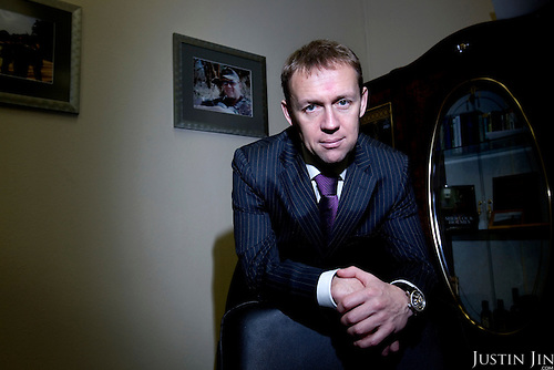 Russian mulit-millionaire Andrei Lugovoy, who is suspected of murdering exiled Russian security personel Alexander Litvenenko, poses for a portrait at his office in Moscow, Russia. .Litvenenko was admitted to hospital soon after he met Lugovoy and another Russian businessman in a hotel bar in London, and within a month died of polonium poisoning. .