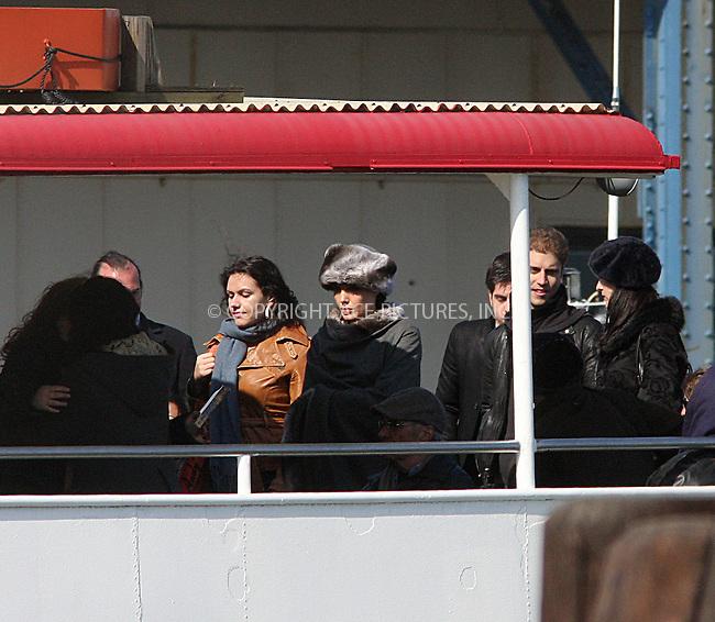WWW.ACEPIXS.COM . . . . .  ....April 9 2009, New York City....Actress Angelina Jolie (C in fur hat) was on the set of the new movie 'Salt' on Staten Island on April 9 2009 in New York City....Please byline: AJ Sokalner - ACEPIXS.COM..... *** ***..Ace Pictures, Inc:  ..tel: (212) 243 8787..e-mail: info@acepixs.com..web: http://www.acepixs.com