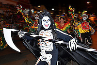BARRANQUILLA-COLOMBIA-21-02-2014. 'La Guacherna'  desfile traditional del carnaval de Barranquilla que se cerebra anualmente. / 'La Guacherna' , is one of the most traditional parades that takes part in 'El carnival de Barranquilla'. Photo: VizzorImage/Alfonso Cervantes/STR