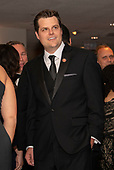 United States Representative Matt Gaetz (Republican of Florida) attends the 2019 White House Correspondents Association Annual Dinner at the Washington Hilton Hotel on Saturday, April 27, 2019.<br /> Credit: Ron Sachs / CNP<br /> <br /> (RESTRICTION: NO New York or New Jersey Newspapers or newspapers within a 75 mile radius of New York City)