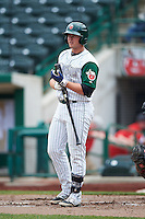Fort Wayne TinCaps right fielder Mason Smith (22) during the second game of a doubleheader against the Great Lakes Loons on May 11, 2016 at Parkview Field in Fort Wayne, Indiana.  Great Lakes defeated Fort Wayne 5-0.  (Mike Janes/Four Seam Images)