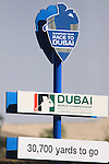Sign on the course during the opening round of Day 1 at the Dubai World Championship Golf in Jumeirah, Earth Course, Golf Estates, Dubai  UAE, 19th November 2009 (Photo by Eoin Clarke/GOLFFILE)