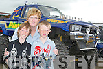 Trish, Vincent and Gary Horan from Ballymac took some time out on bank holiday Monday to view the display of cars at the Monster Car Show.